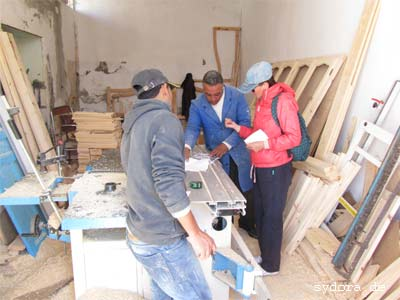 In einer tunesischen Tischlerei