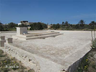 Fläche zum Wasserdsammeln in Tunesien