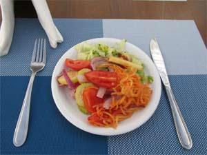 Essen mit viele Vitaminen