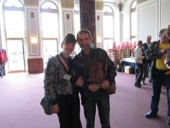 Nelia Sydoriak (Sydora) mit Prof. Dr. Frank Gottert (LIB)
