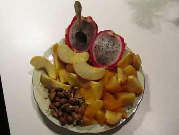 Obstteller für die Gesundheit