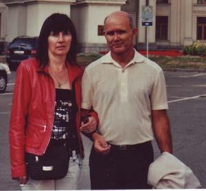 Peter und Nelia in Kiew