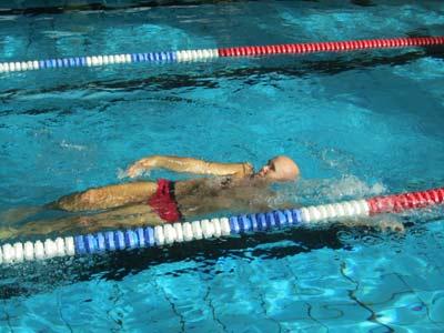 beim Schwimmtrainig