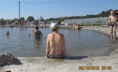 Salzsee in Solotwyno (Transkarpatien)