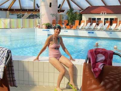 Nelia Sydoriak im Thermalbad Bad Klosterlausnitz