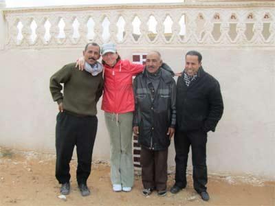 Gespräche mit Tunesiern am Rand der Sahara